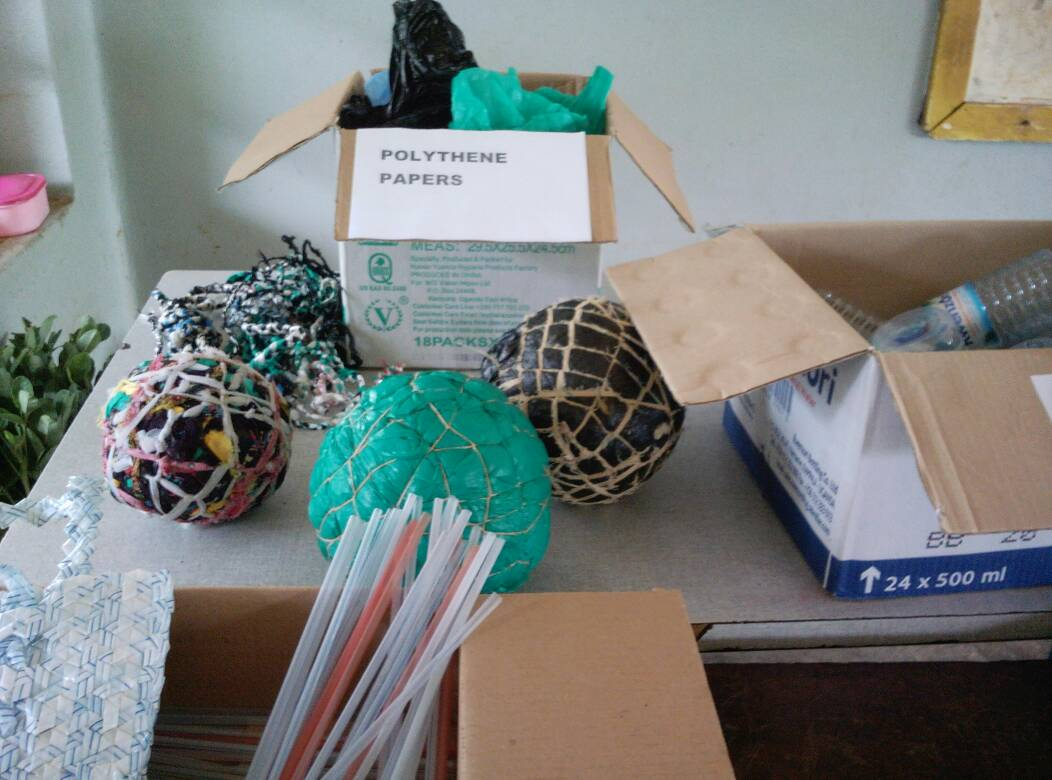 Art and craft products made out of plastic waste
