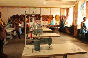 Electric sewing machine donated by ISESCO