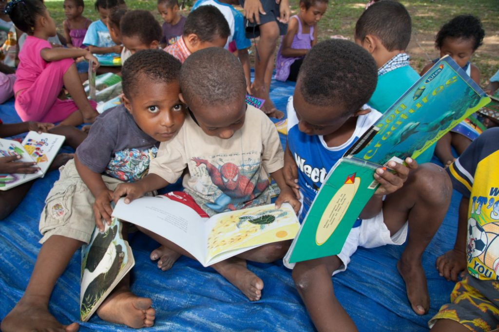 The Buk bilong Pikinini library opened at UPNG is an incredible facility that allows pikininis - children - to access free basic education in a library environment